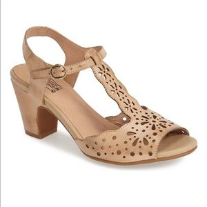 Miz Mooz Phillys Perforated Nude Sandals
